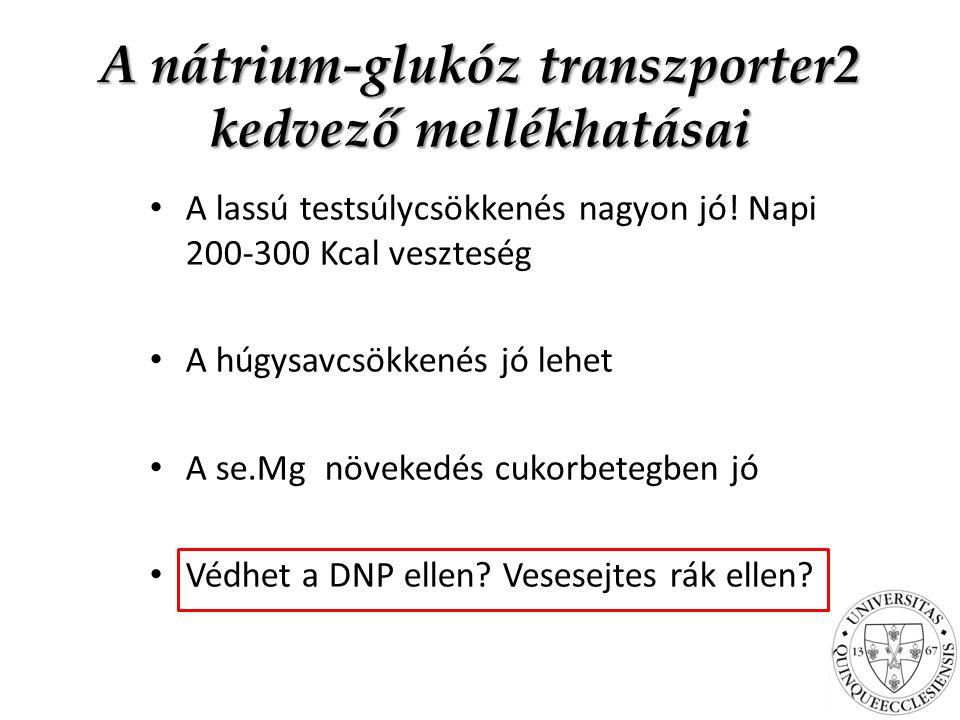 A nátrium-glukóz transzporter2 kedvező mellékhatásai A lassú testsúlycsökkenés nagyon jó.