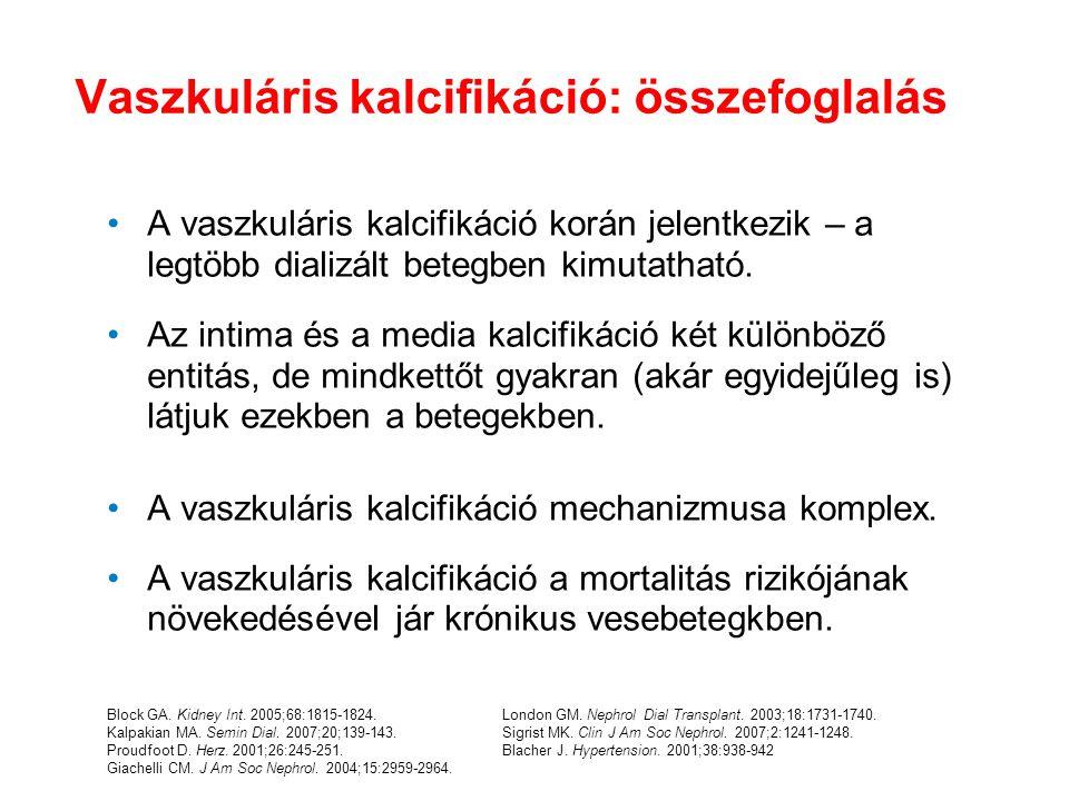 Block GA. Kidney Int. 2005;68:1815-1824. Kalpakian MA. Semin Dial. 2007;20;139-143. Proudfoot D. Herz. 2001;26:245-251. Giachelli CM. J Am Soc Nephrol