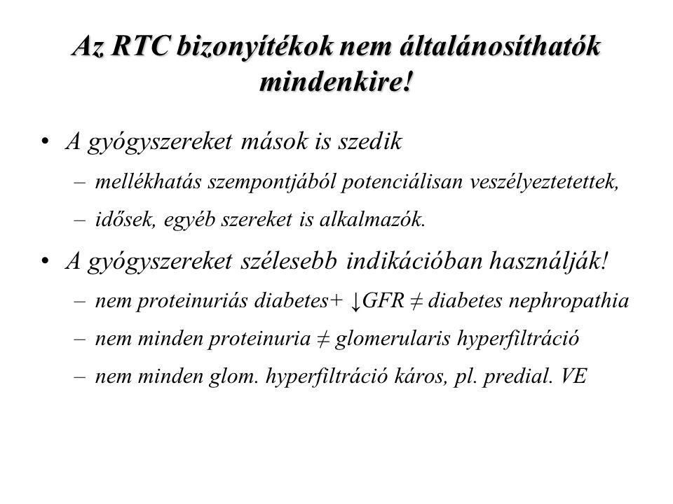 Az RTC bizonyítékok nem általánosíthatók mindenkire.