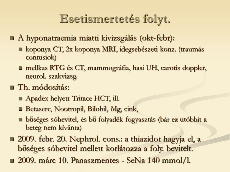 Hyponatraemia chr.