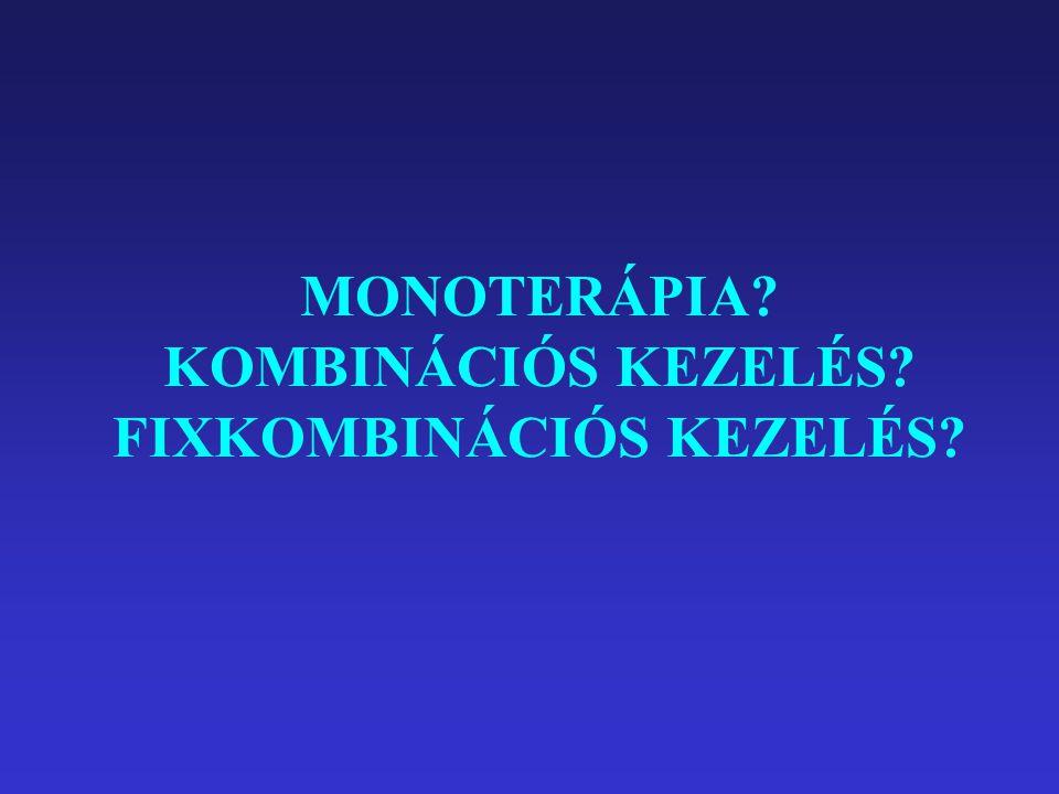 MONOTERÁPIA? KOMBINÁCIÓS KEZELÉS? FIXKOMBINÁCIÓS KEZELÉS?