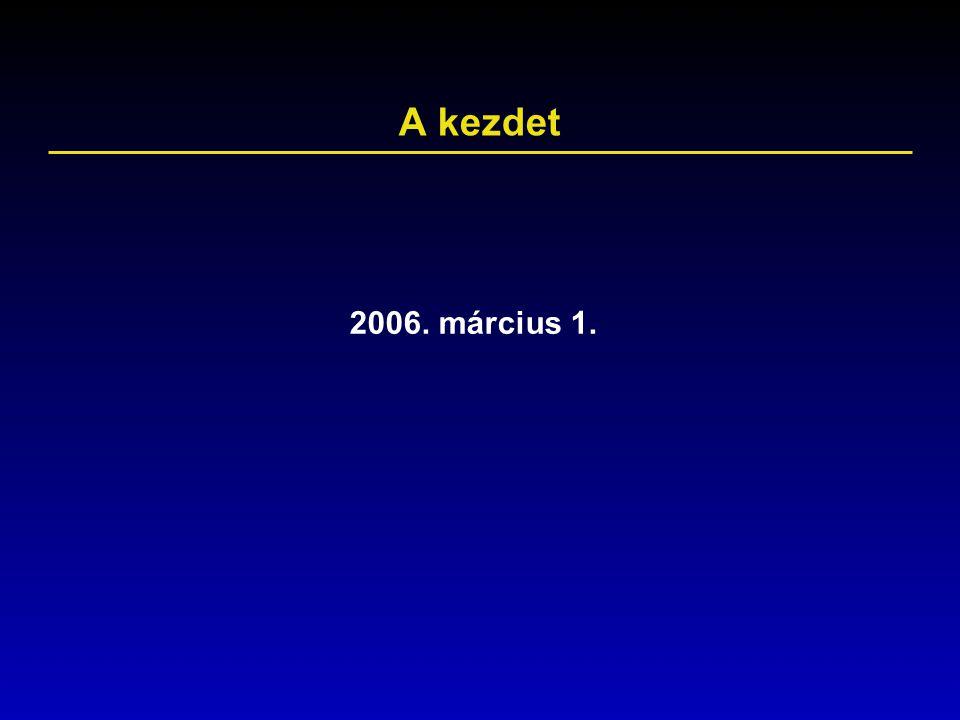 A kezdet 2006. március 1.