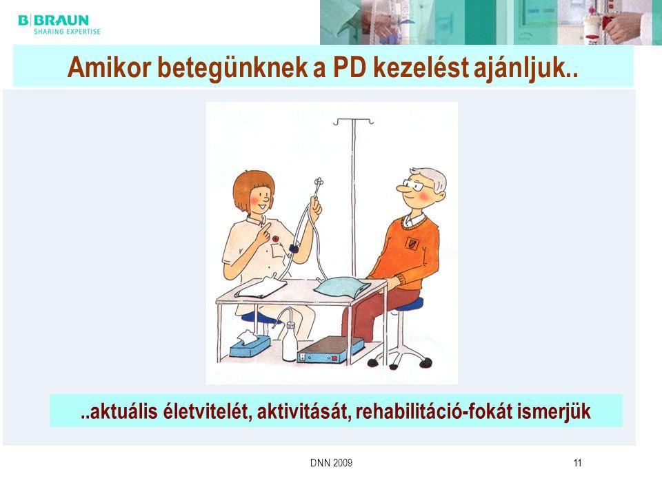 DNN 200911 Amikor betegünknek a PD kezelést ajánljuk....aktuális életvitelét, aktivitását, rehabilitáció-fokát ismerjük