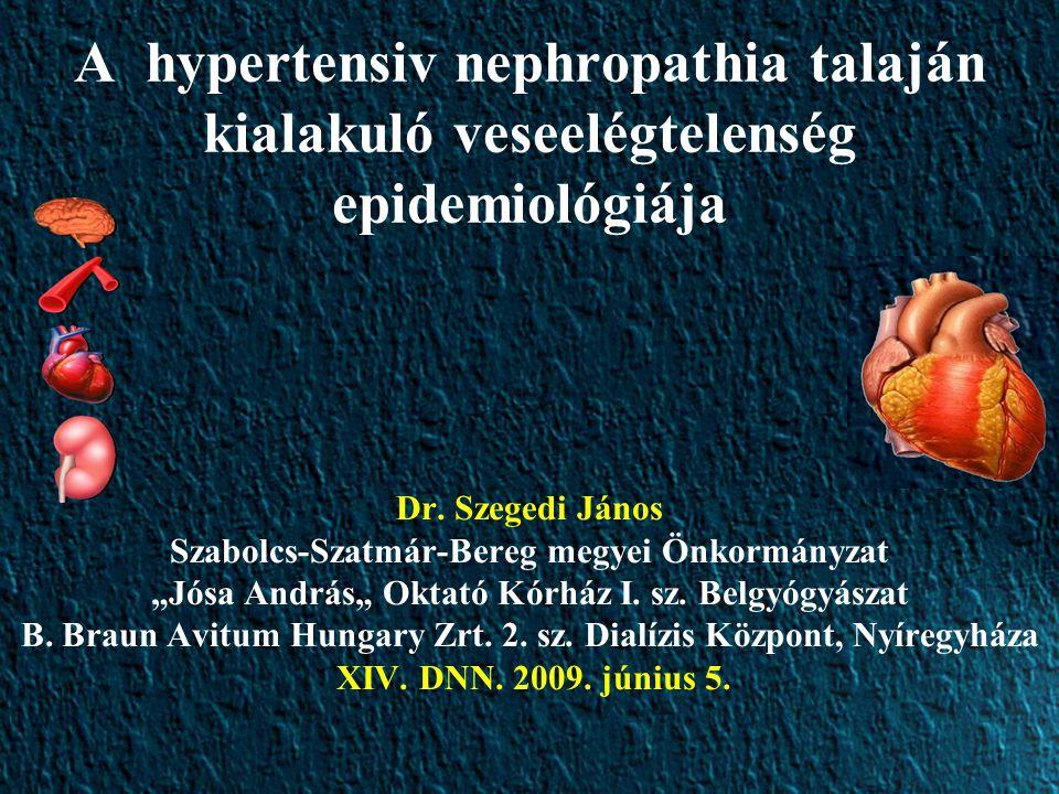 Hypertonia és a vese kapcsolata A vesebetegség gyakran oka a hypertoniának (renoparenchymás, renovascularis hypertonia) A hypertonia oka lehet a vesebetegségnek, veseelégtelenségnek