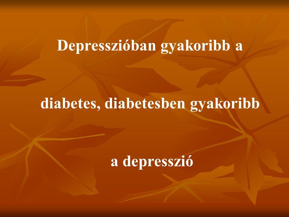 Depresszióban gyakoribb a diabetes, diabetesben gyakoribb a depresszió