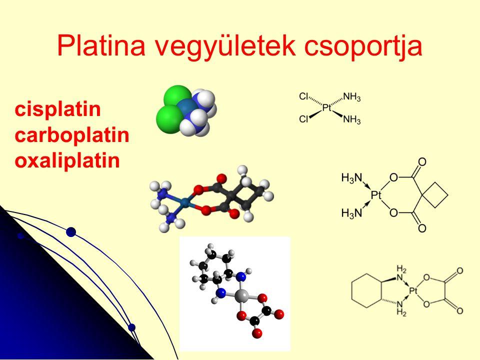 Platina vegyületek csoportja cisplatin carboplatin oxaliplatin