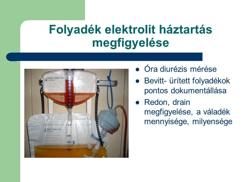 A vese transzplantációt követő vizsgálatok, intenzív ápolás Betegmegfigyelés Kardinalis tünetek észlelése Folyadék-elektrolit háztartás megfigyelése V