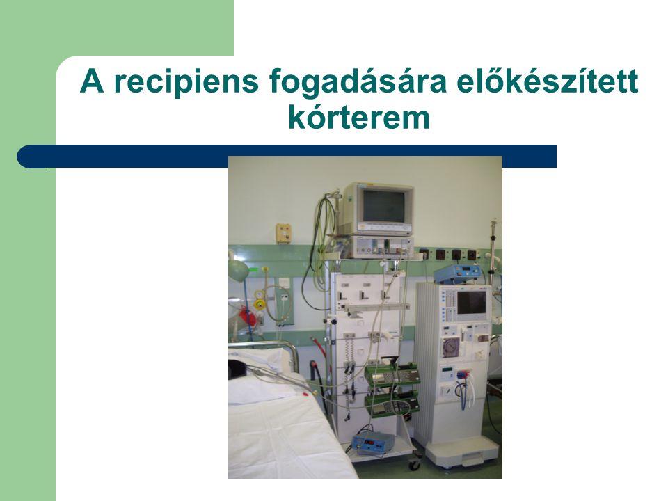 Acut rejectio kezelése Szteroid terápia, 3-5 napon át adott 0,25-0,5 – 1 g Solu-Medrol (methylprednisolon) Ha nem sikeres immunterápia váltás Ez lehet intravénás ATG (polyclonalis antilymphocita serum), OKT3 (monoclonalis antitestek), Thymoglobulin (antithymocyte immunglobulin) adása, melyhez intenzív osztályos ellátás szükséges.