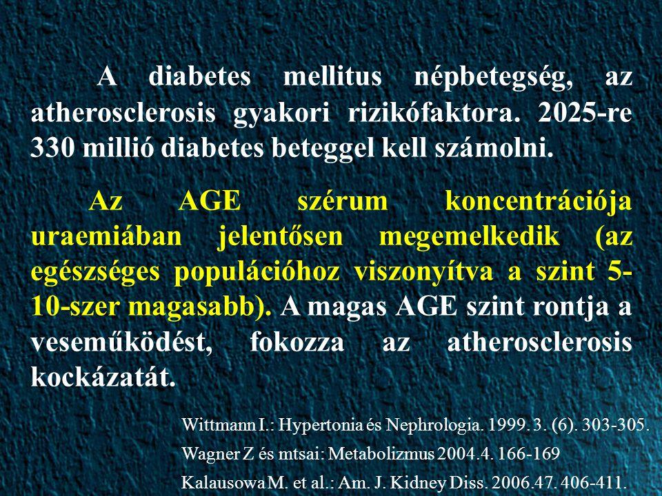 A diabetes mellitus népbetegség, az atherosclerosis gyakori rizikófaktora.