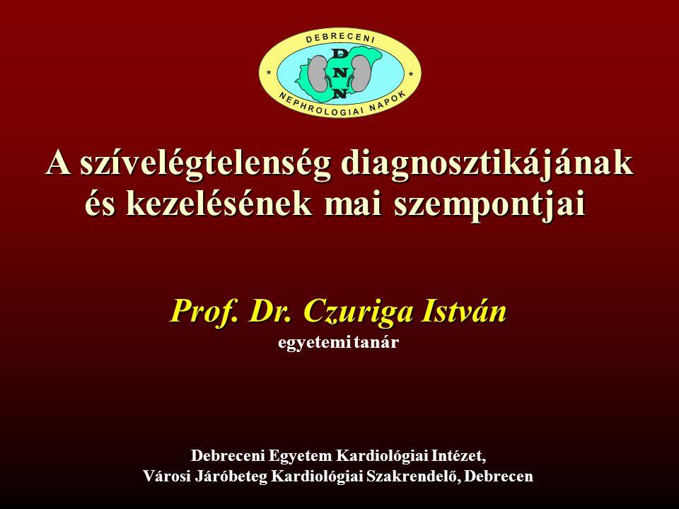 A szívelégtelenség diagnosztikájának és kezelésének mai szempontjai Debreceni Egyetem Kardiológiai Intézet, Városi Járóbeteg Kardiológiai Szakrendelő,