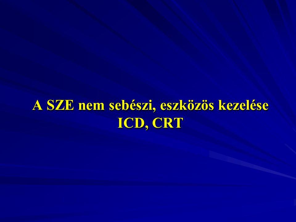 A SZE nem sebészi, eszközös kezelése ICD, CRT