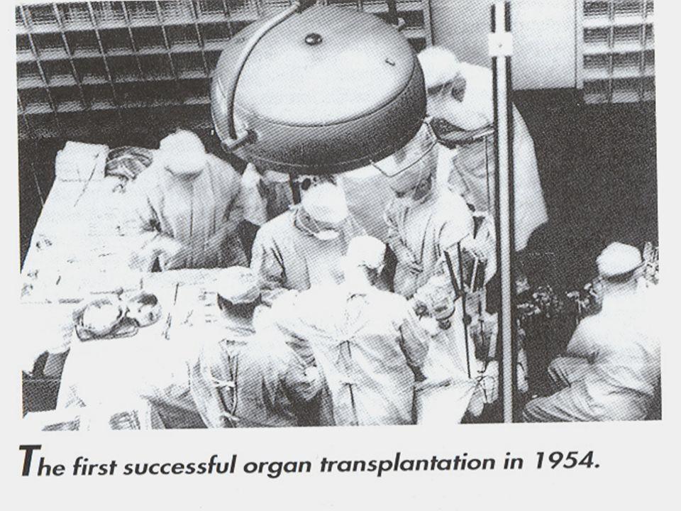 A szervátültetés kezdete Vese: 1954. Merrill, Murray, Harrison Vese: 1954. Merrill, Murray, Harrison Máj: 1963. Starzl Máj: 1963. Starzl Tüdő: 1963. H