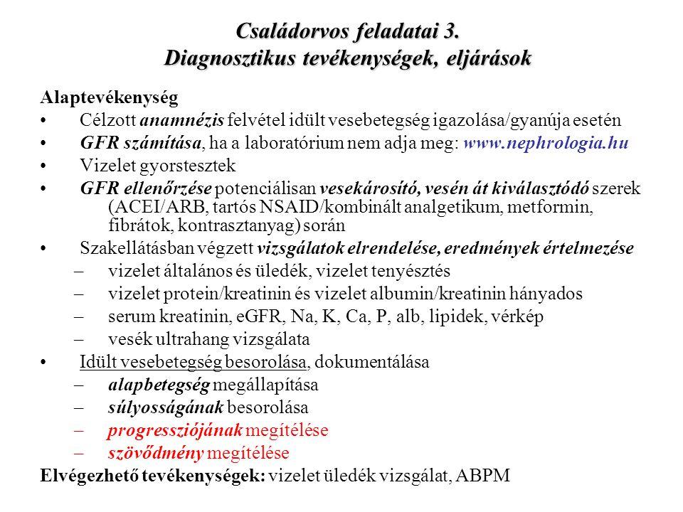 ACEI/ARB okozta AVE Ok: vese hypoperfuziója –alap: kétoldali v.