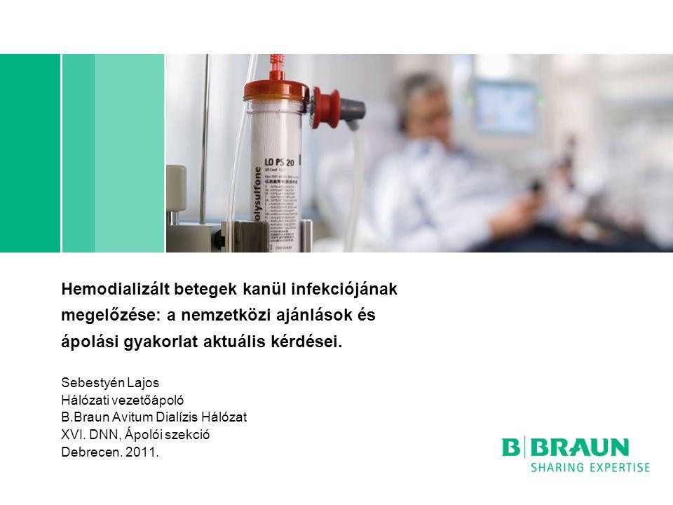 Hemodializált betegek kanül infekciójának megelőzése: a nemzetközi ajánlások és ápolási gyakorlat aktuális kérdései. Sebestyén Lajos Hálózati vezetőáp