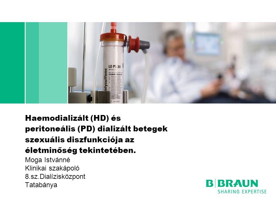 Haemodializált (HD) és peritoneális (PD) dializált betegek szexuális diszfunkciója az életminőség tekintetében. Moga Istvánné Klinikai szakápoló 8.sz.