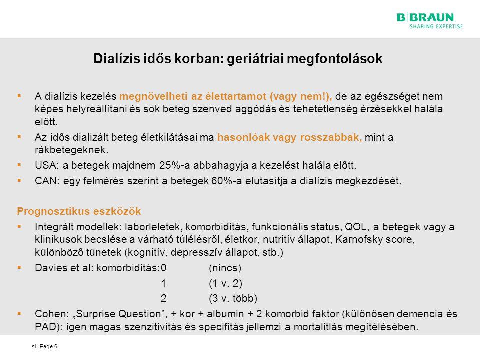sl   Page 1 éves túlélés tervezett és nem tervezett dialíziskezdés esetén CKD-5D Szombathely (%) 17 - 41% %