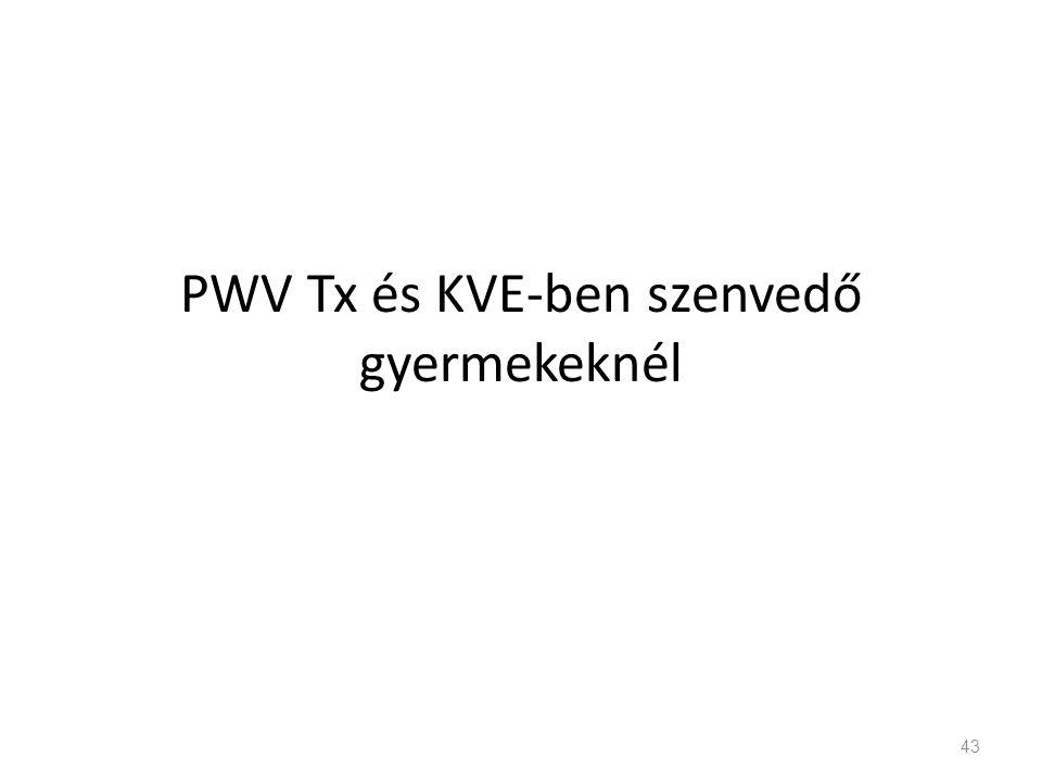 PWV Tx és KVE-ben szenvedő gyermekeknél 43