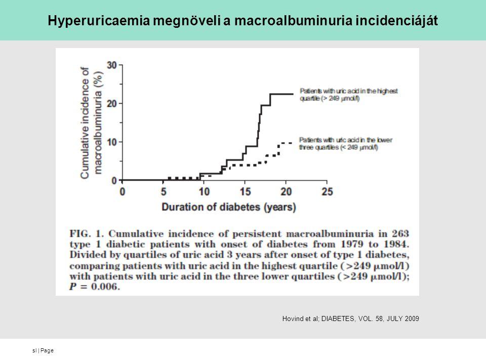 sl   Page Hyperuricaemia megnöveli a macroalbuminuria incidenciáját Hovind et al; DIABETES, VOL. 58, JULY 2009