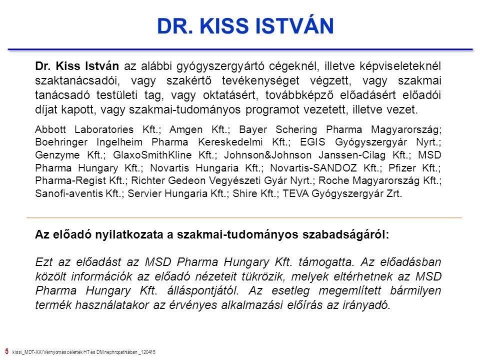 36 kissi_MDT-XXI Vérnyomás célérték HT és DM nephropathiában _120415 Köszönöm a megtisztelő figyelmet !