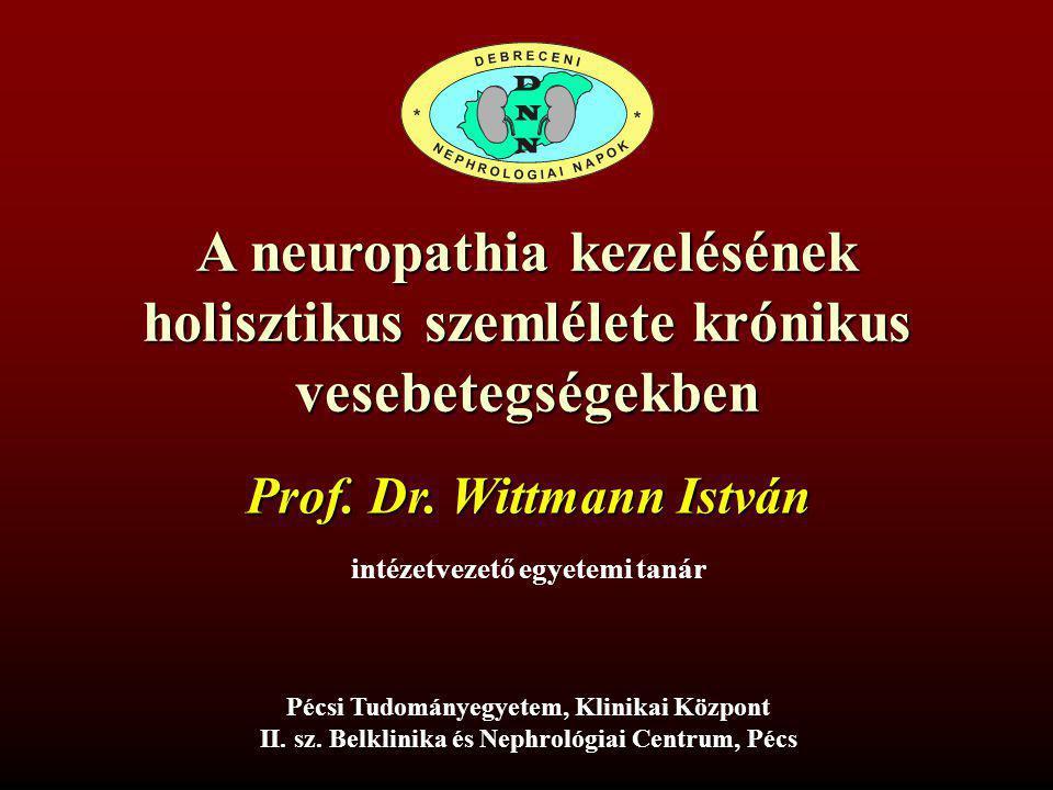 A neuropathia kezelésének holisztikus szemlélete krónikus vesebetegségekben Pécsi Tudományegyetem, Klinikai Központ II. sz. Belklinika és Nephrológiai