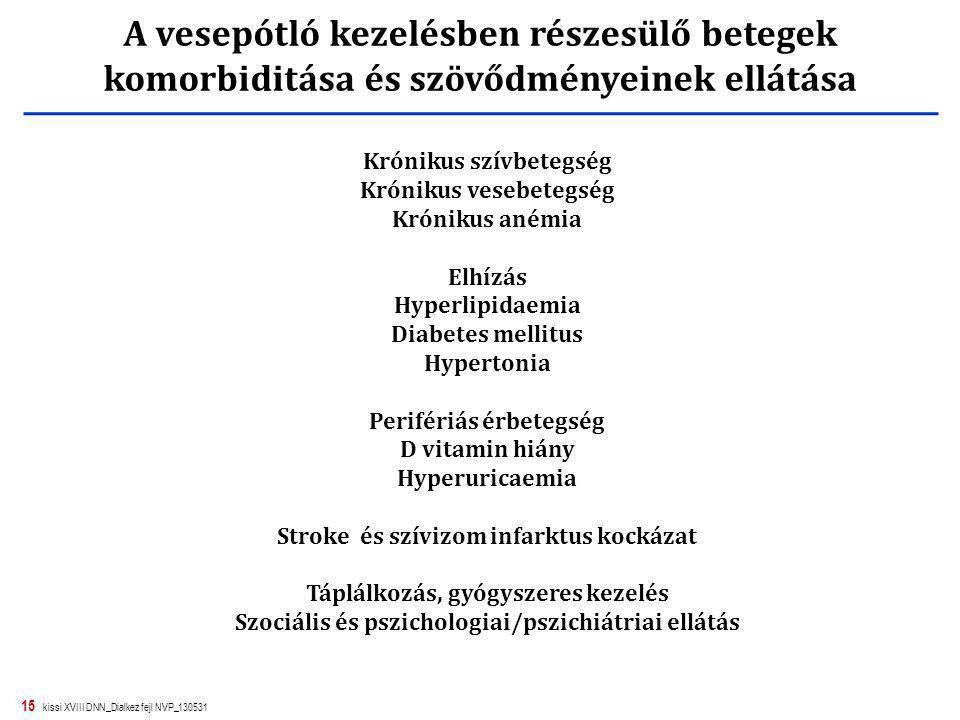 15 kissi XVIII DNN_Dialkez fejl NVP_130531 Krónikus szívbetegség Krónikus vesebetegség Krónikus anémia Elhízás Hyperlipidaemia Diabetes mellitus Hyper