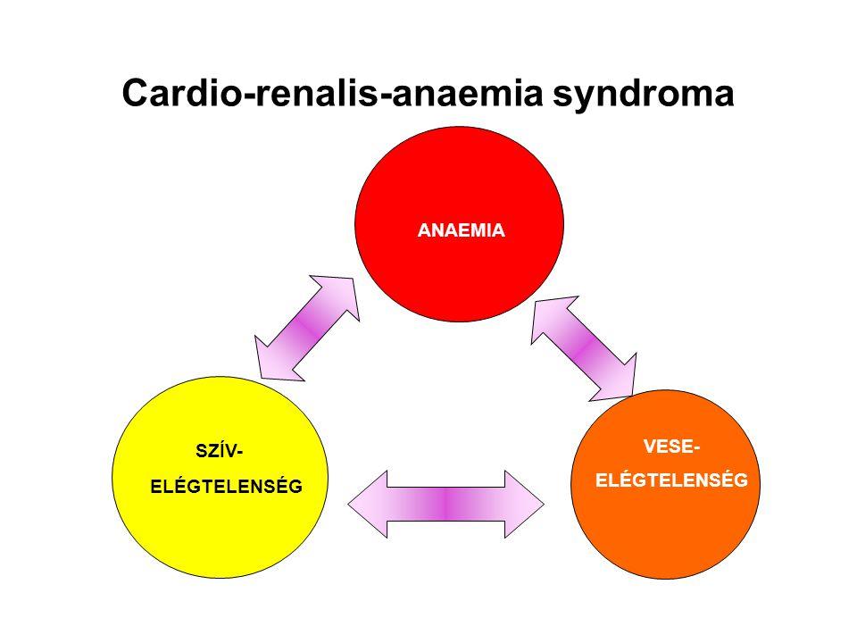 ANAEMIA SZÍV- ELÉGTELENSÉG VESE- ELÉGTELENSÉG Cardio-renalis-anaemia syndroma