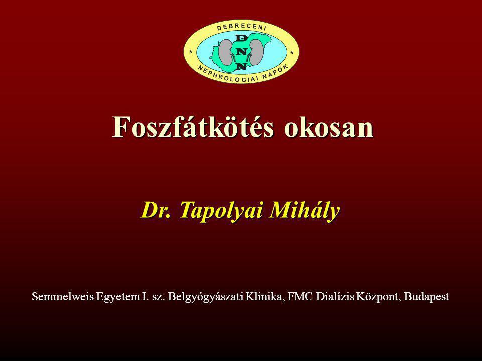 Tapolyai Mihály, MD,FASN,FACP Fresenius Medical Care – SE I.
