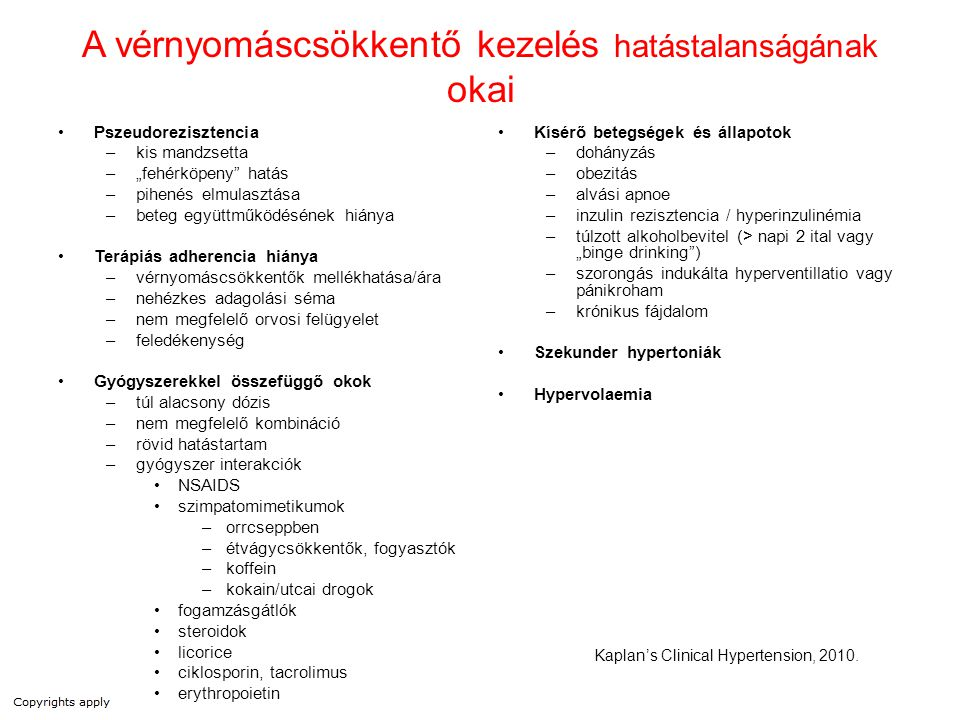 """Volumentöbblet """"A rezisztens hypertoniának leggyakoribb fiziológiás oka a volumen többlet. Oparil-Weber: Hypertension 2000"""