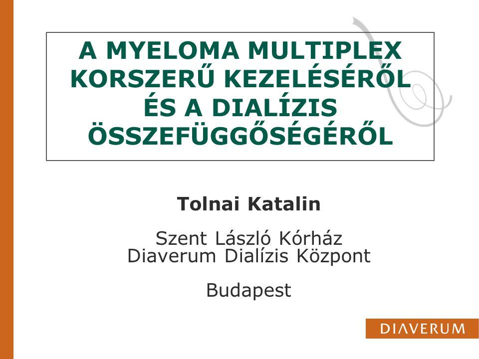 MYELOMA MULTIPLEX A myeloma multiplex (plasmocytoma) a plazmasejtek rosszindulatú megbetegedése, amelyet a kórosan megnövekedett immunfehérje termelés, plazmasejt beszűrődés a csontvelőben és ezek következtében kialakuló csont és veseműködés károsodás kísér Magyarországon 2000 myeloma multiplexben szenvedő beteg van