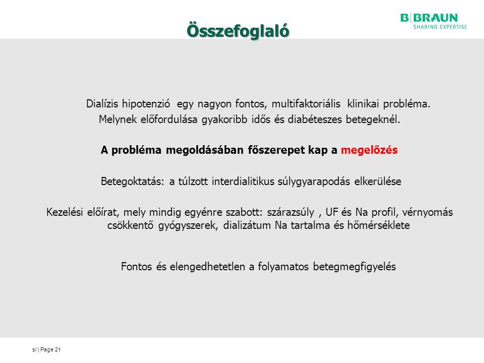 sl | Page Összefoglaló Dialízis hipotenzió egy nagyon fontos, multifaktoriális klinikai probléma.