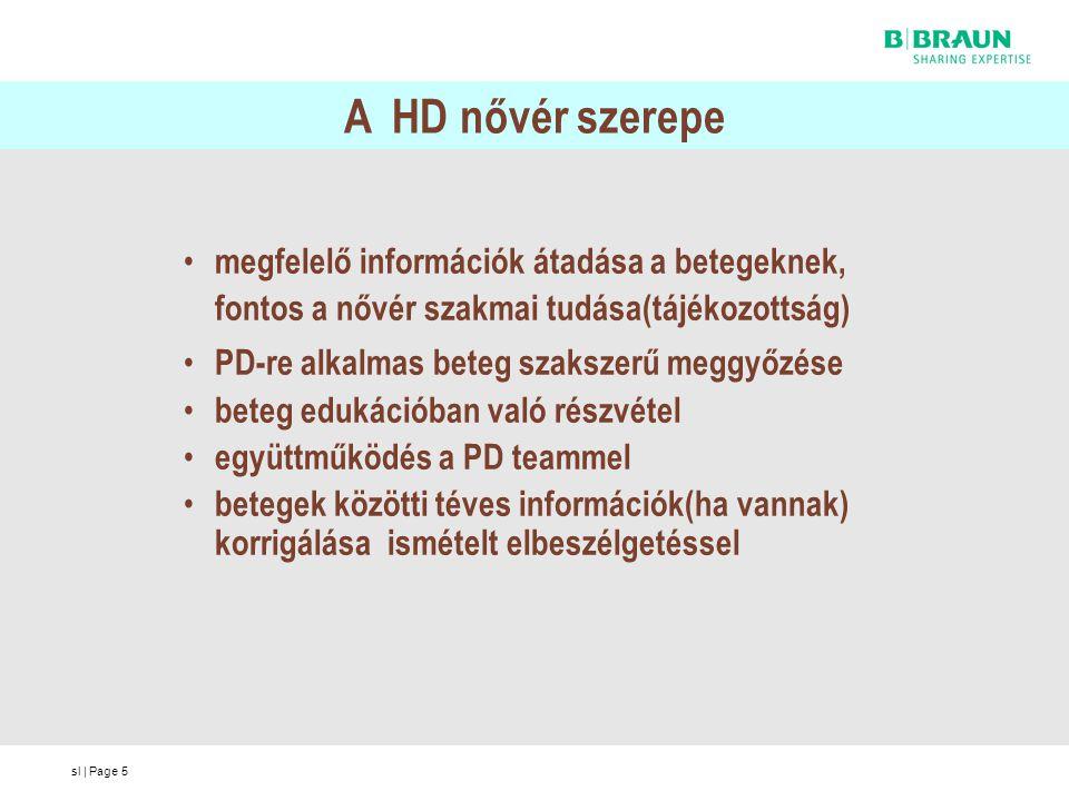sl | Page5 A HD nővér szerepe megfelelő információk átadása a betegeknek, fontos a nővér szakmai tudása(tájékozottság) PD-re alkalmas beteg szakszerű