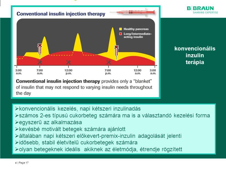 sl | Page17 konvencionális inzulin terápia  konvencionális kezelés, napi kétszeri inzulinadás  számos 2-es típusú cukorbeteg számára ma is a választ
