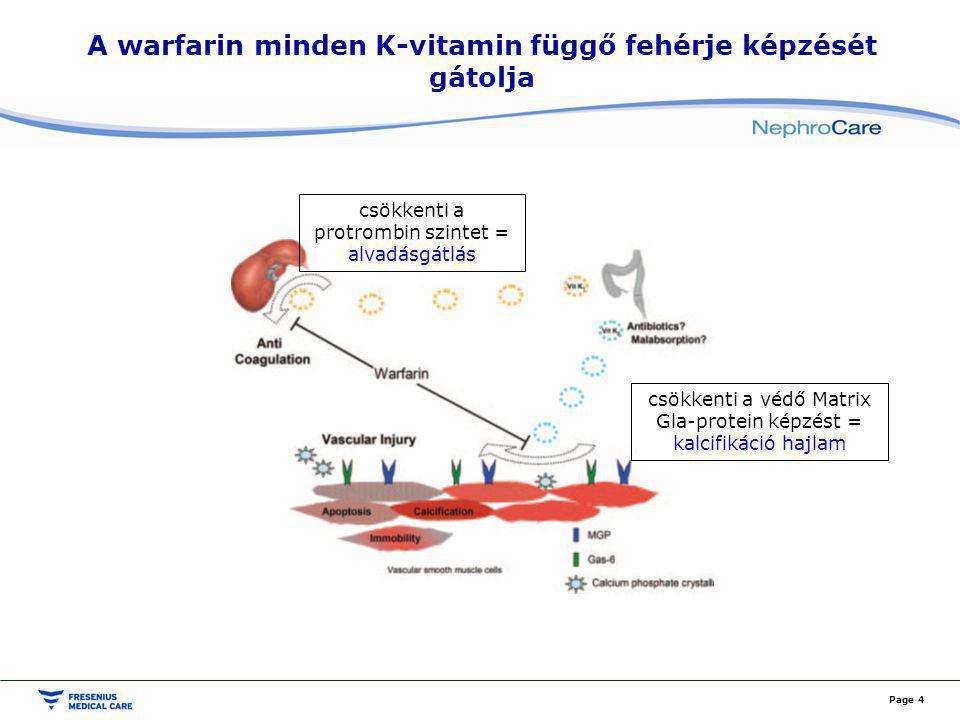 A kumarinok terápiás ablaka nagyon szűk Page 5 Elégtelen alvadásgátlás és vérzésveszély között kell szűk tartományban egyensúlyozni.