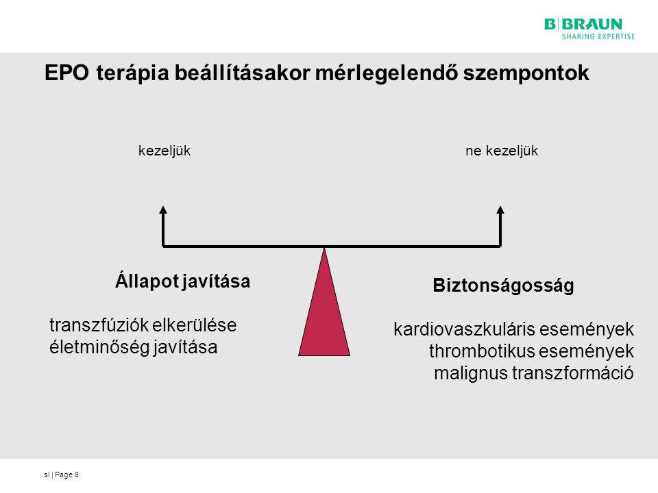 sl | Page8 EPO terápia beállításakor mérlegelendő szempontok Biztonságosság kardiovaszkuláris események thrombotikus események malignus transzformáció