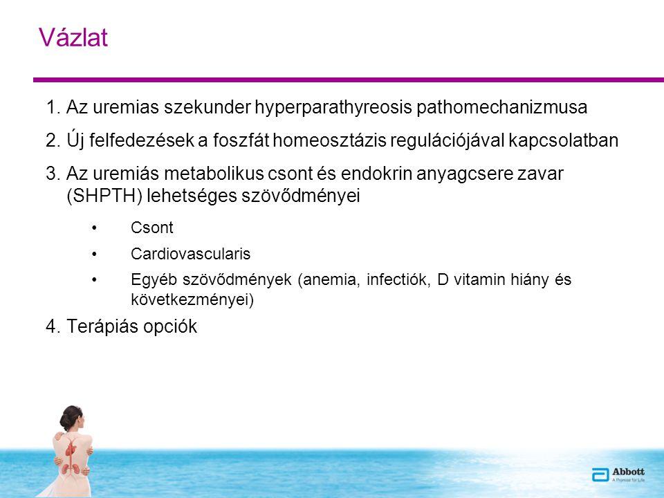 Vázlat 1.Az uremias szekunder hyperparathyreosis pathomechanizmusa 2.Új felfedezések a foszfát homeosztázis regulációjával kapcsolatban 3.Az uremiás m