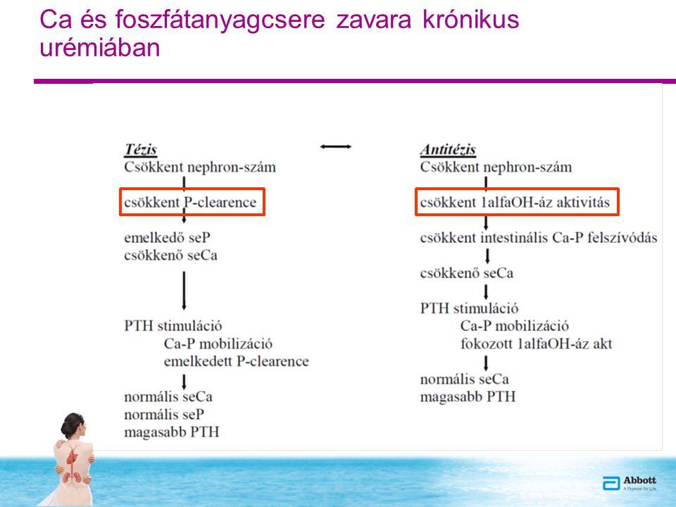 Vázlat 1.Az uremias szekunder hyperparathyreosis pathomechanizmusa 2.Új felfedezések a foszfát homeosztázis regulációjával kapcsolatban 3.Az uremiás metabolikus csont és endokrin anyagcsere zavar (SHPTH) lehetséges szövődményei Csont Cardiovascularis Egyéb szövődmények (anemia, infectiók, D vitamin hiány és következményei) 4.Terápiás opciók