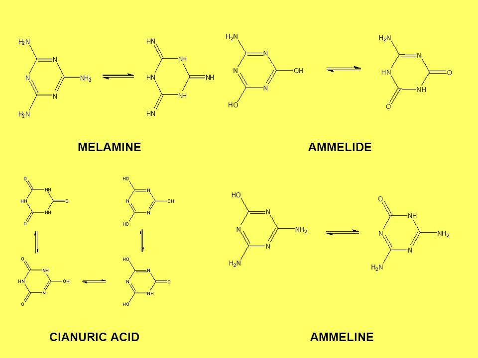 MELAMINE AMMELIDE CIANURIC ACID AMMELINE
