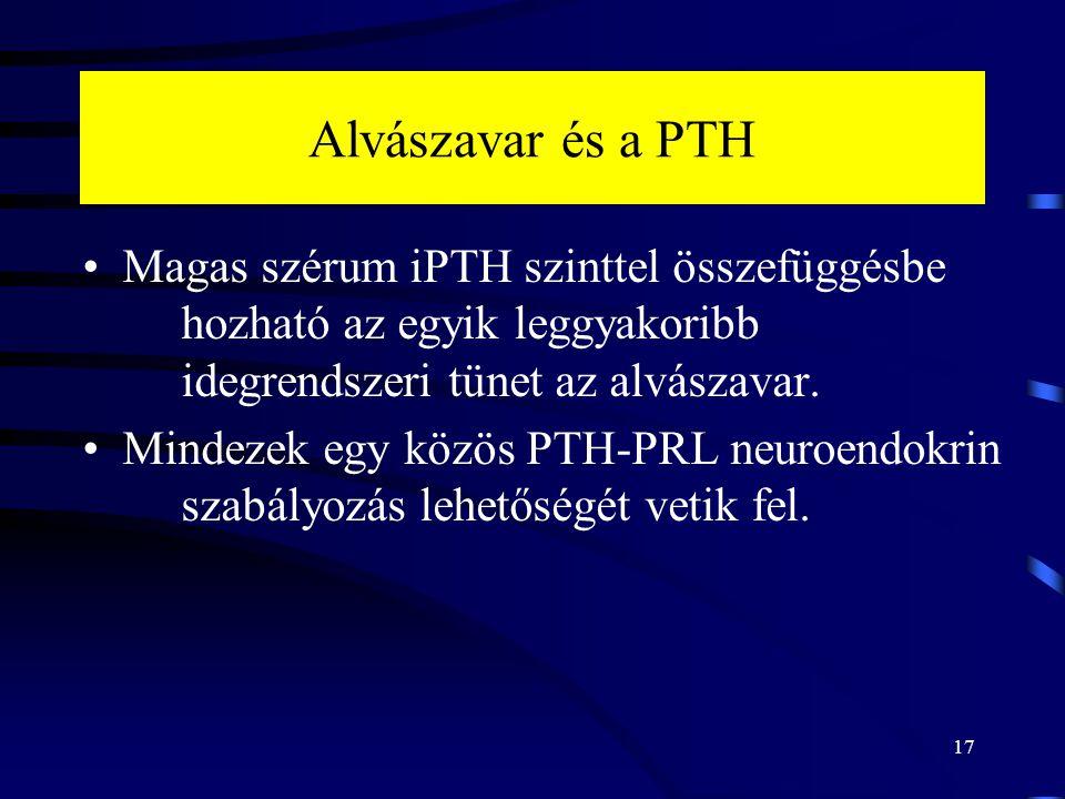 Alvászavar és a PTH Magas szérum iPTH szinttel összefüggésbe hozható az egyik leggyakoribb idegrendszeri tünet az alvászavar. Mindezek egy közös PTH-P