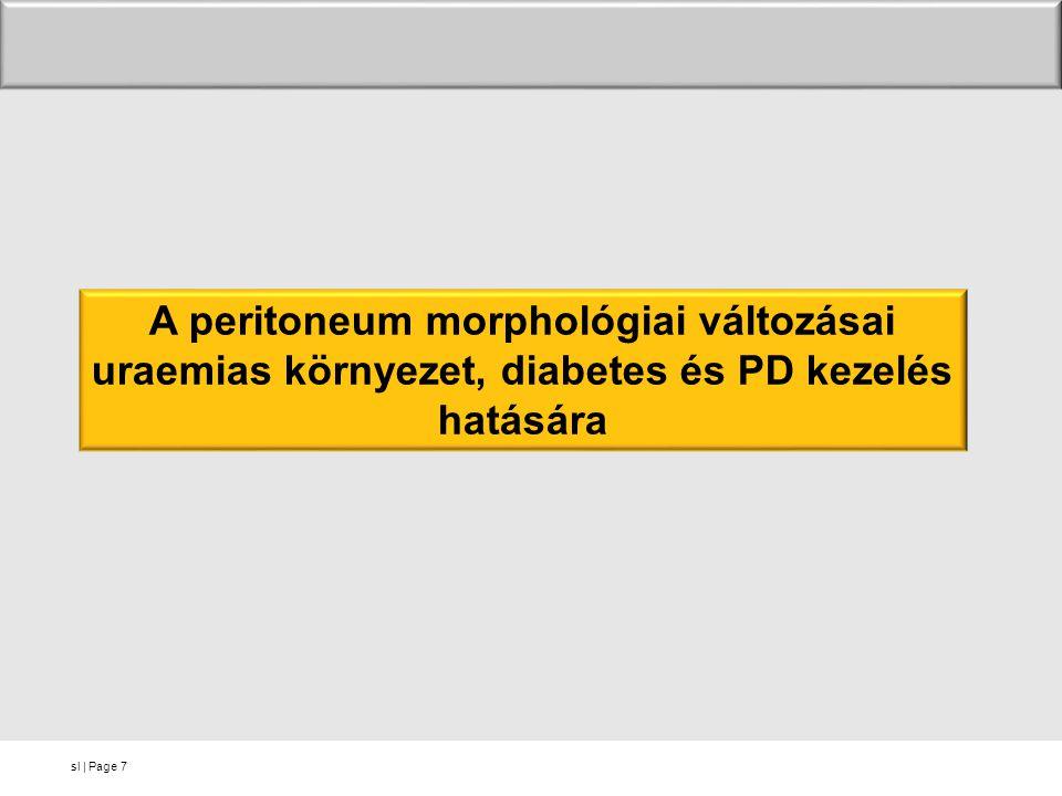sl   Page7 A peritoneum morphológiai változásai uraemias környezet, diabetes és PD kezelés hatására