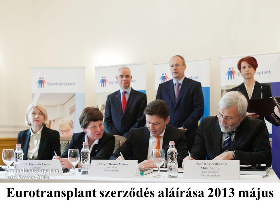 Eurotransplant szerződés aláírása 2013 május