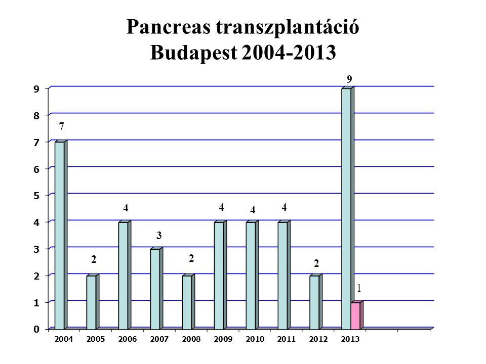 Pancreas transzplantáció Budapest 2004-2013