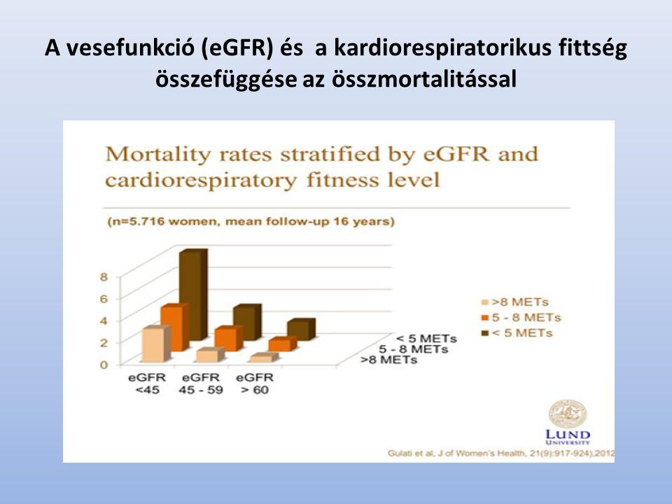 A vesefunkció (eGFR) és a kardiorespiratorikus fittség összefüggése az összmortalitással