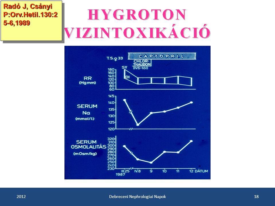 2012Debreceni Nephrologiai Napok18 Radó J, Csányi P:Orv.Hetil.130:2 5-6,1989