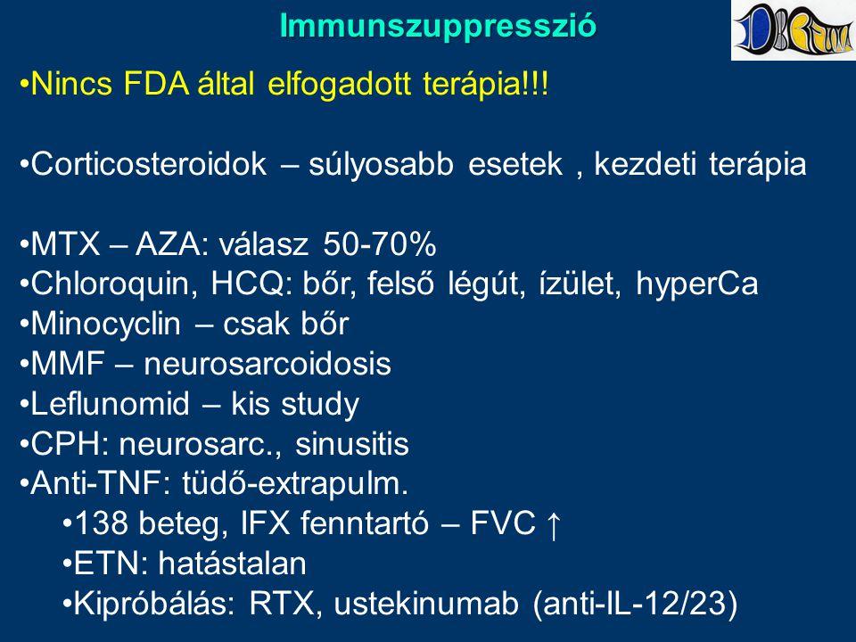 Immunszuppresszió Nincs FDA által elfogadott terápia!!.
