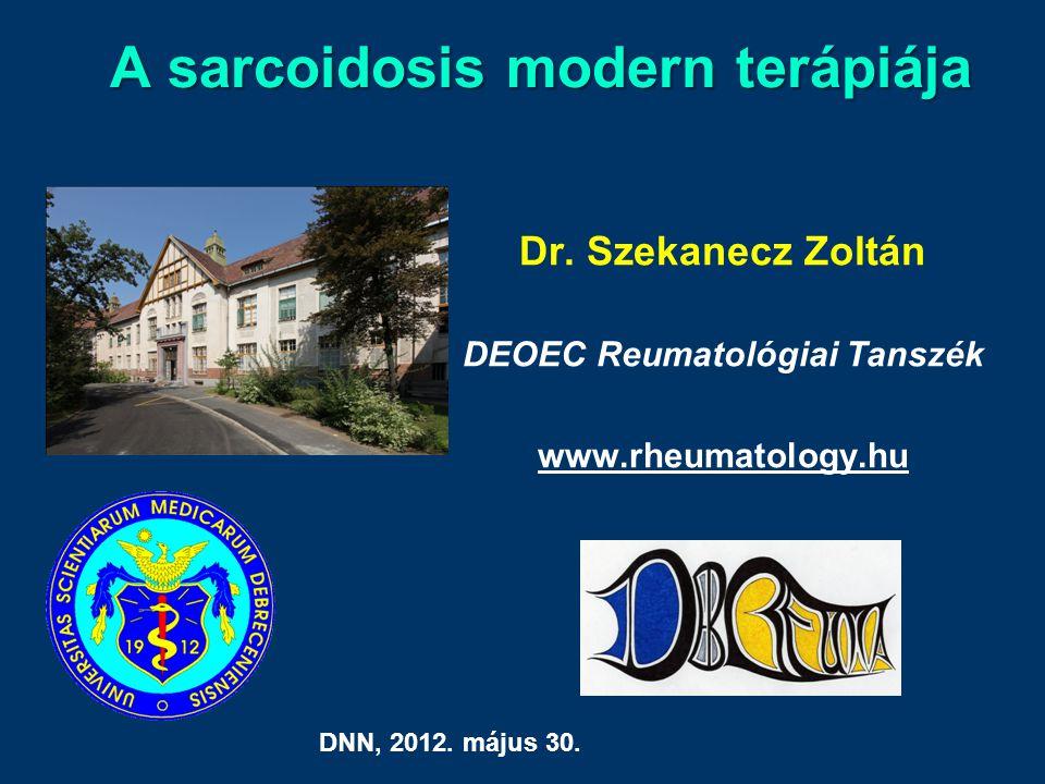 A sarcoidosis modern terápiája Dr.