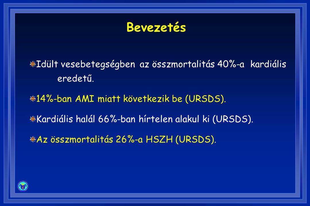 AED (Automated external defibrillators) Egy vizsgálatban >14év alatt 110 HSZH 2 HD centrumban (Seattle)  Az események 65%-a HD-sal kapcsolatos (VF).