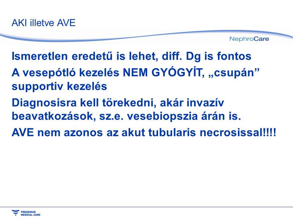 AKI illetve AVE Ismeretlen eredetű is lehet, diff.