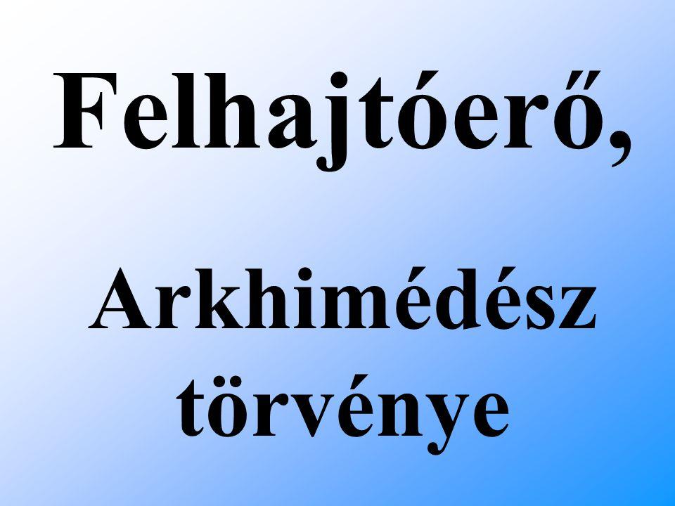 Felhajtóerő, Arkhimédész törvénye