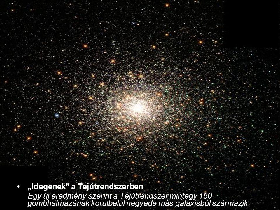 """""""Idegenek"""" a Tejútrendszerben Egy új eredmény szerint a Tejútrendszer mintegy 160 gömbhalmazának körülbelül negyede más galaxisból származik."""