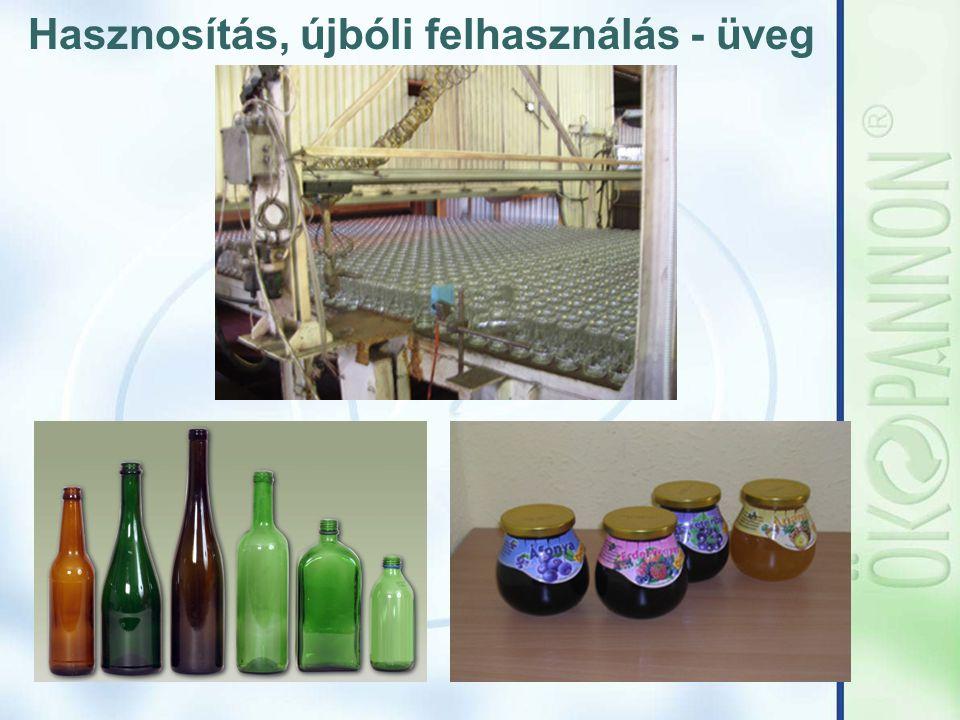 Hasznosítás, újbóli felhasználás - üveg